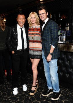 Joe Zee, Tara Buck and Brad Goreski at Elle Magazine's Women in Music Event